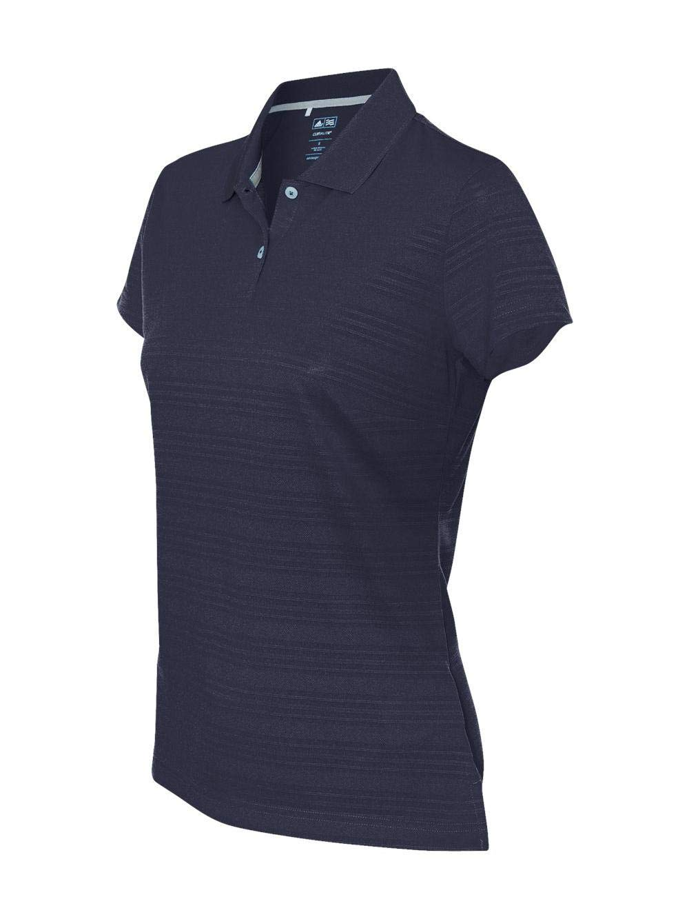 adidas Golf Womens Climalite Textured Short-Sleeve Polo (A162) -Navy -S