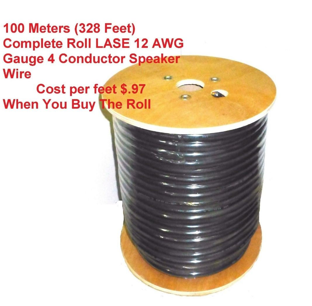Amazon.com: 100 Meters / 328 Feet LASE 12 AWG Gauge 4 Conductor ...