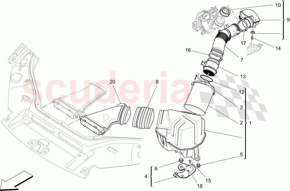 Maserati 670004604 Filtre /à air de rechange pour Ghibli‿Levante Quattroporte