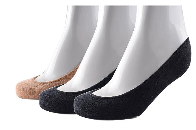 ZUMIY® Mujer Cortos No Show Calcetines Algodón Invisibles Calcetines Con Silicona Antideslizante 2 ou 3 Pares EU 35-40: Amazon.es: Ropa y accesorios