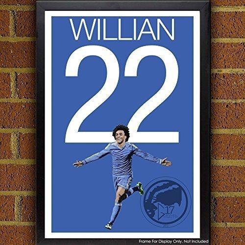 Willian Poster - Chelsea Soccer Art