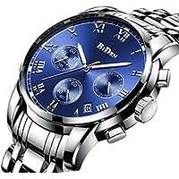 Biden Men's Stainless Steel Chronograph Watch (Blue)