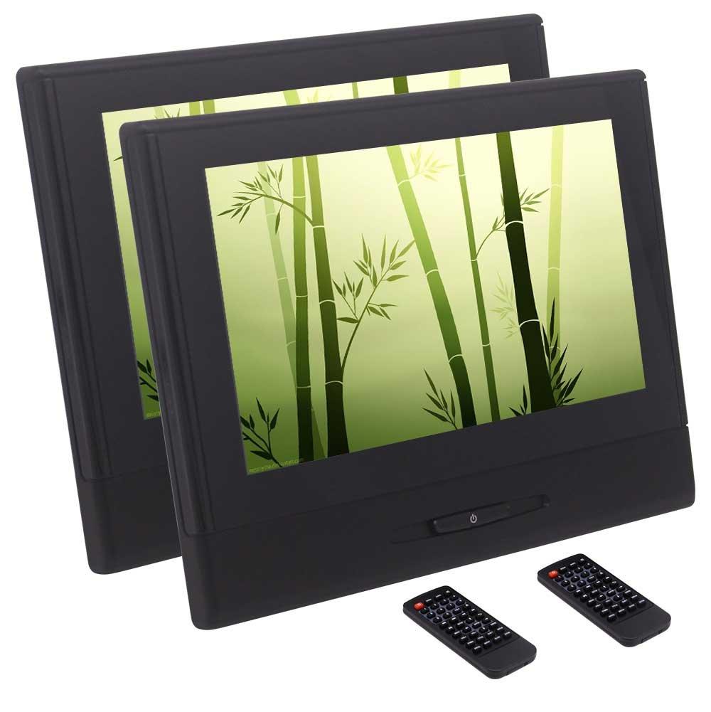 1280×720の解像度ヘッドレストサポートが付いている車のDVDプレイヤー8インチHDデジタルTFTスクリーンのペア内蔵IR&FMトランスミッターAUX入力のUSB SD 1080Pビデオ B0788LXKTX