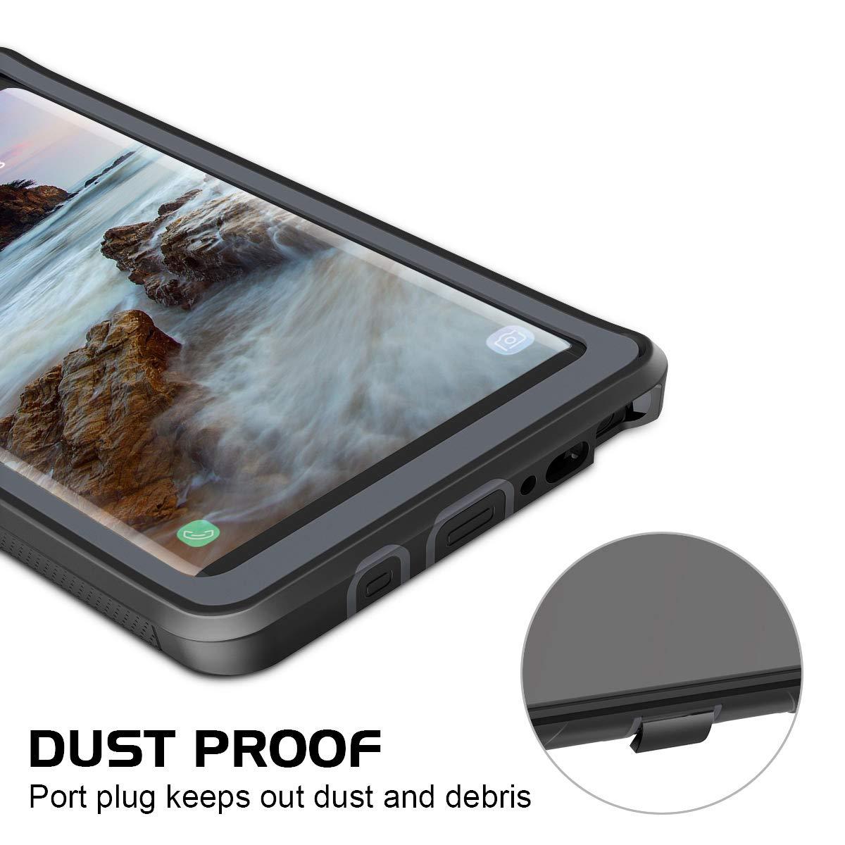 Prologfer Funda para Samsung Galaxy S9 360 Grados Transparente Carcasa Resistente con Protector de Pantalla incorporada Prueba de Golpes y Suciedad Cover para Samsung Galaxy S9 Negro