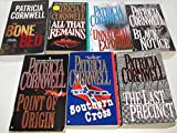 Author Patricia Cornwell Seven Book Bundle Set Collection, Includes: Point of Origin - Southern Cross - The Last Precinct - Unnatural Exposure - Black Notice - The Bone Red - All That Remains