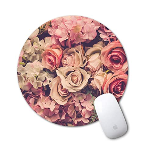 a10072fec889b Mouse Pad, Sumplee Fashion Mousepad Round Art Print Mouse Pads Anti Slip  Rubber Mouse Mat for Desktops, Computer, PC and Laptops (7.87