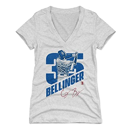 500 LEVEL Cody Bellinger Women s V-Neck Shirt Small Tri Ash - Los Angeles  Baseball d8cb39d4705