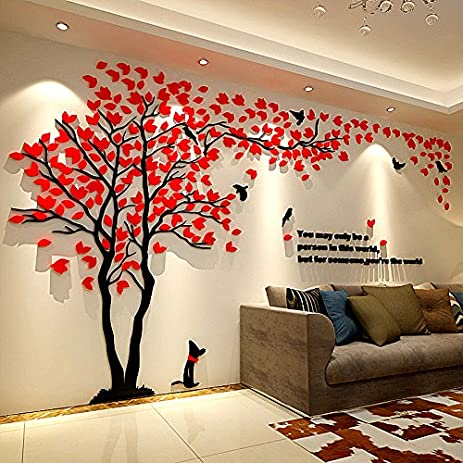 Tree 3D Wall Decals Stickers DIY Decor TV Setting Wall For Wall Decor Home  Decor 79inch