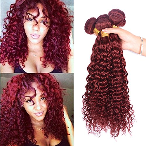 Red Curly Hair - Peruvian 7A Deep Curly Hair Ombre