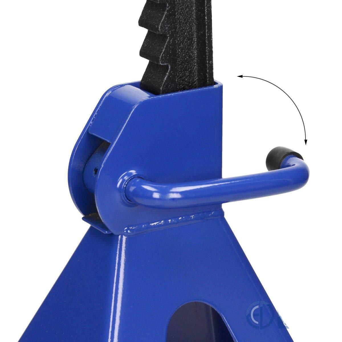 Tools 3 Ton Heavy Duty Car Van Vehicle Garage Workshop Ratchet Type Steel Lift Jack Axle Stands 4 Pack