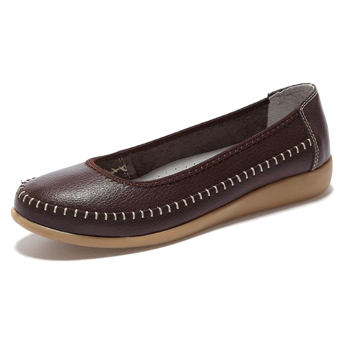 COVOYYAR Womens Solid Shallow Top Round Toe Elegant Driving Flats Slip On Shoes