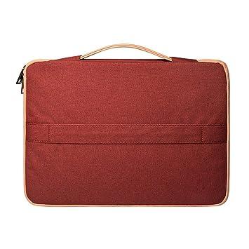LEEQ Bolso Bandolera para Ordenador portátil, Organizador de Documentos, Escuela, Oficina, Color Rojo Vino(Rojo Vino ): Amazon.es: Hogar
