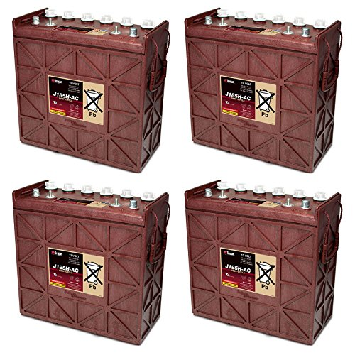 4x Trojan J185H-AC Flooded Lead Acid 12V Deep Cycle Battery 225Ah FAST USA (Deep Cycle 12v Ac Batteries)