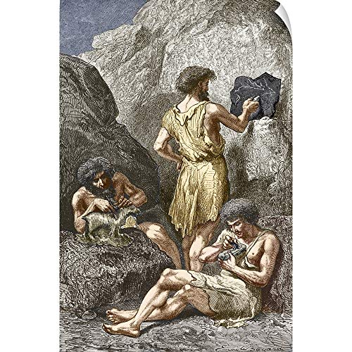 CANVAS ON DEMAND Stone Age Artists Wall Peel Art Print, 40