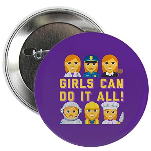 539ef6b61 Amazon.com: CafePress Emoji Girls Can Do It All 2.25 Button 2.25 ...