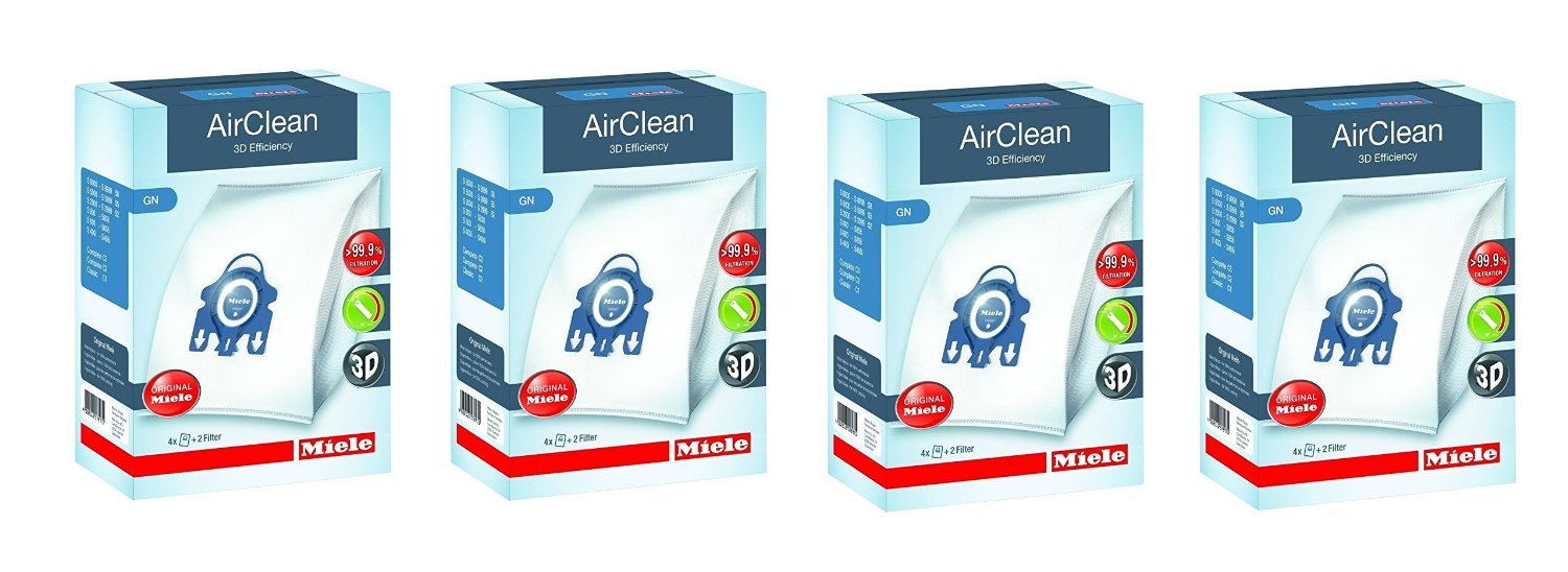 Type G/N Airclean Filterbags, 4 Boxes Miele 7805110-4
