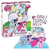 My Little Pony Giant Floor Puzzle for Kids (3 Foot Puzzle, 46 Pieces- Bonus My Little Pony Stickers)