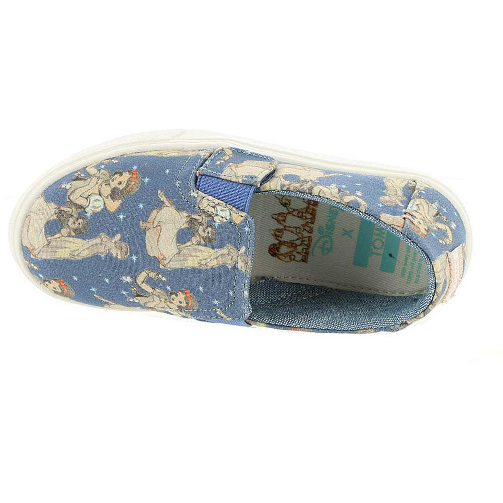 TOMS Girl's, Luca Slip on Shoes Blue 9 M by TOMS Kids (Image #2)