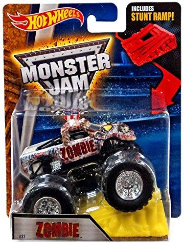 Amazon Com Hot Wheels Monster Jam Zombie 37 With Stunt Ramp 1 64