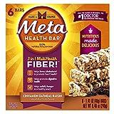 Meta Health Fiber Bar, 100% Natural Psyllium Husk, Cinnamon Oatmeal Raisin, 6 Bars