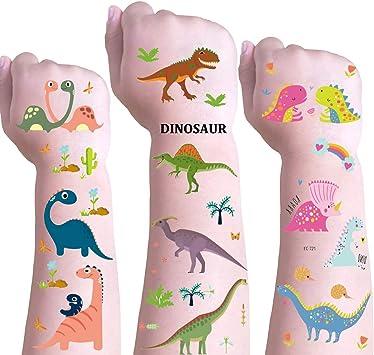 DmHirmg 109PCS Tatuajes temporales de Dinosaurios para niños ...