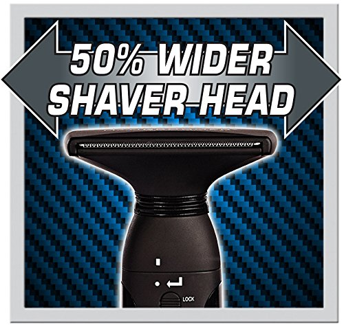 MANGROOMER - LITHIUM MAX PLUS+ Back Hair Shaver (New 5th Generation) Complete Attachment Head With Shock Absorber Neck And New 50% Wider Blade Design by MANGROOMER (Image #3)