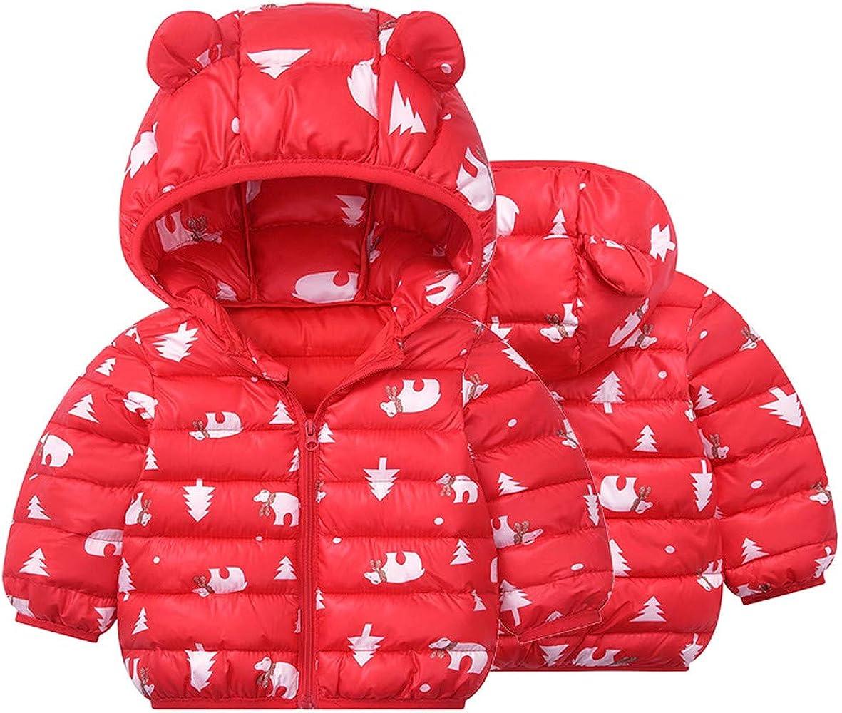 CM-Kid Baby Boys Jackets Coats Hoodie,Boys Cute Bear Stripe Winter Outerwear