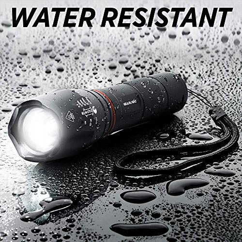 GearLight LED Tactical Flashlight S1000 with Lantern and Magnet - White and Red Work Light - As Seen on TV Tac Light with Batteries Included - Camping, Emergency Taclight Pro Flashlights