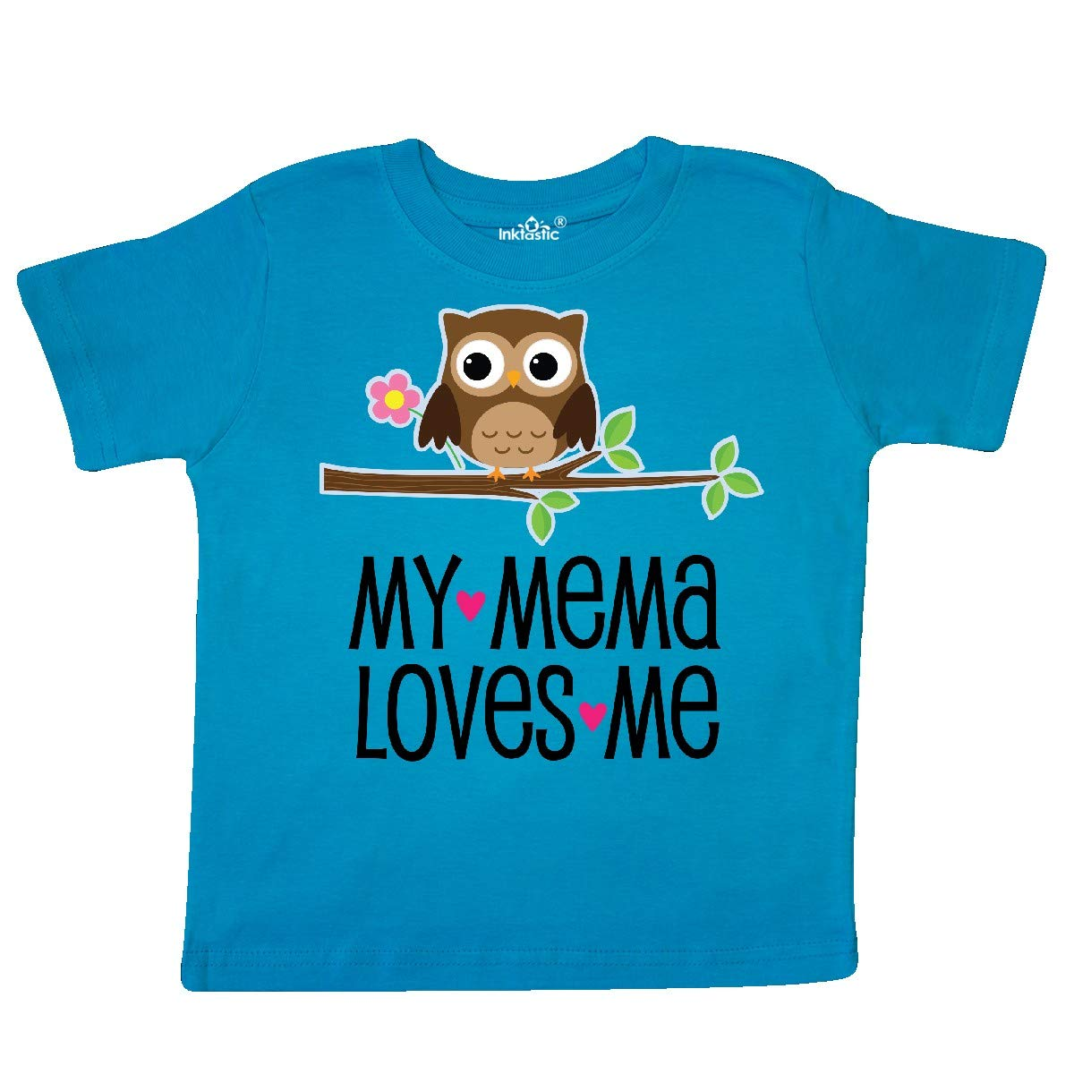 inktastic Mema Loves Me Girl Owl Toddler T-Shirt