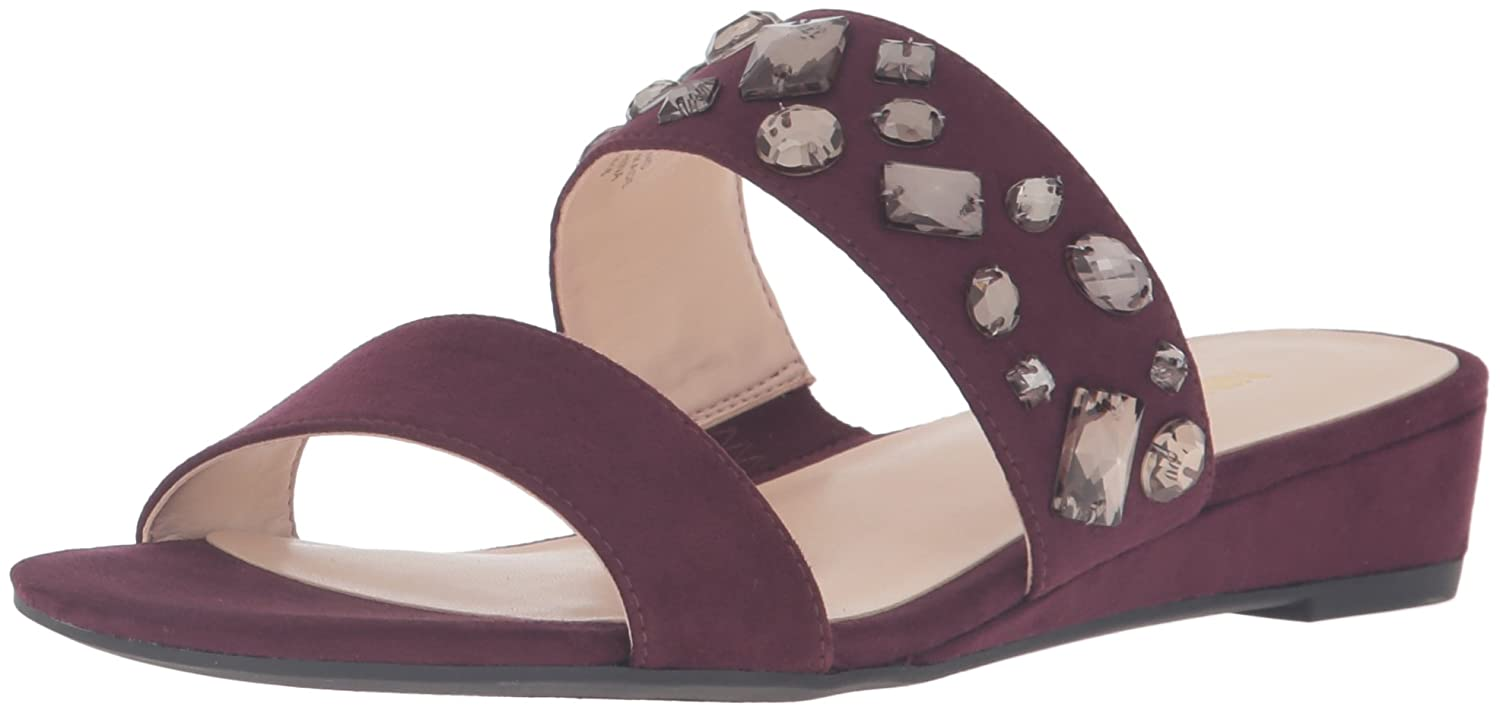 Nine West Women's Temisha Fabric Wedge Sandal B01HDTTNSU 9.5 B(M) US|Wine
