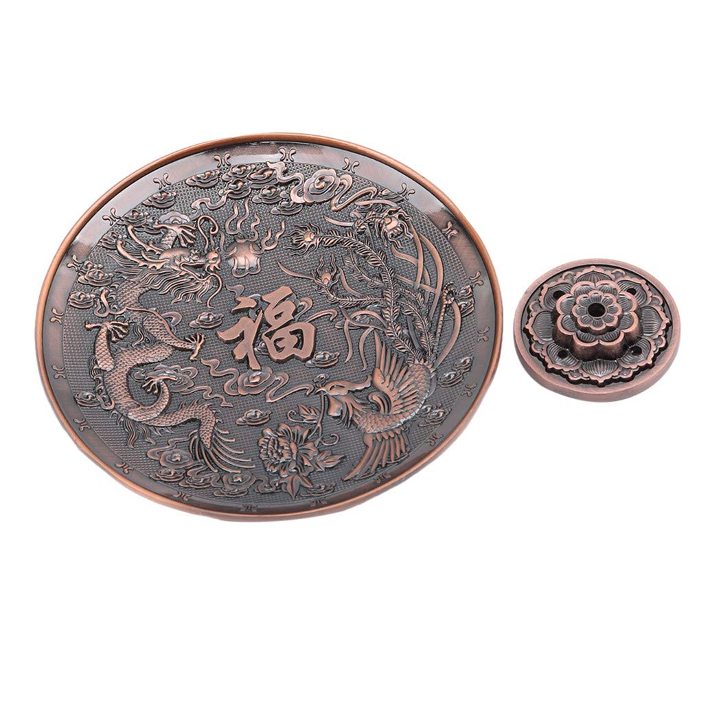 Amazon.com: LIUCM Burner Furnace Home Dedicated Incense Base Censer Candle Aromatherapy Decoration Tool Red Dragon Phoenix Disk: Home & Kitchen