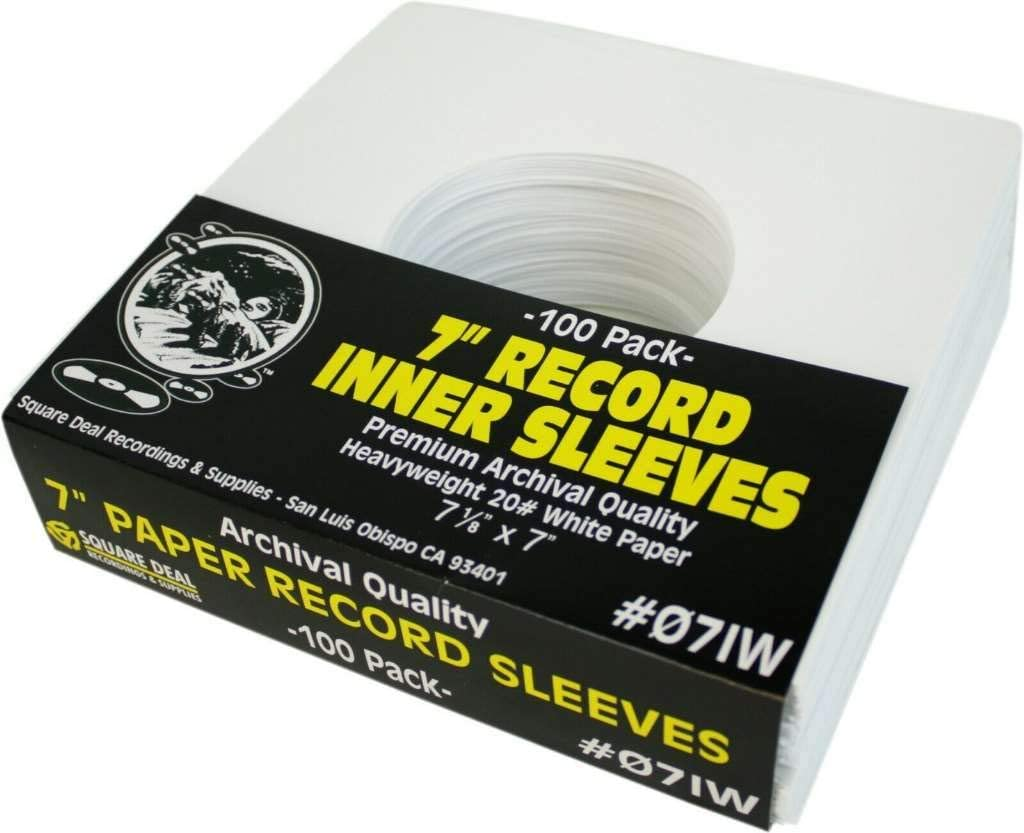 "(100) Archival Quality Acid-Free Heavyweight Paper Inner Sleeves for 7"" Vinyl Records #07IW: Electronics"