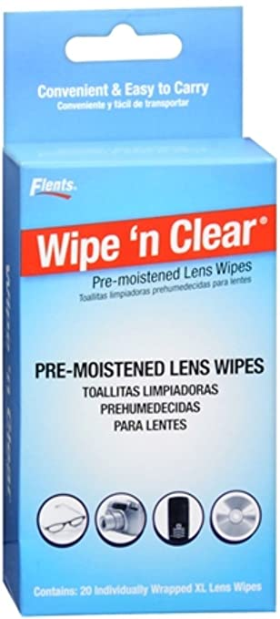 Flents Wipe N Clear Premoistened Tissues 20 Each (Pack of ...