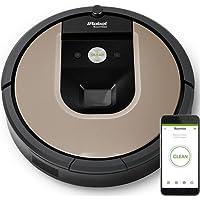 iRobot Roomba 966 Sin bolsa 0.6L Negro, Plata aspiradora robotizada - Aspiradoras robotizadas (Sin bolsa, Negro, Plata, Alrededor, 0,6 L, Auto, Mancha, Alfombra, Linóleo, Azulejos)