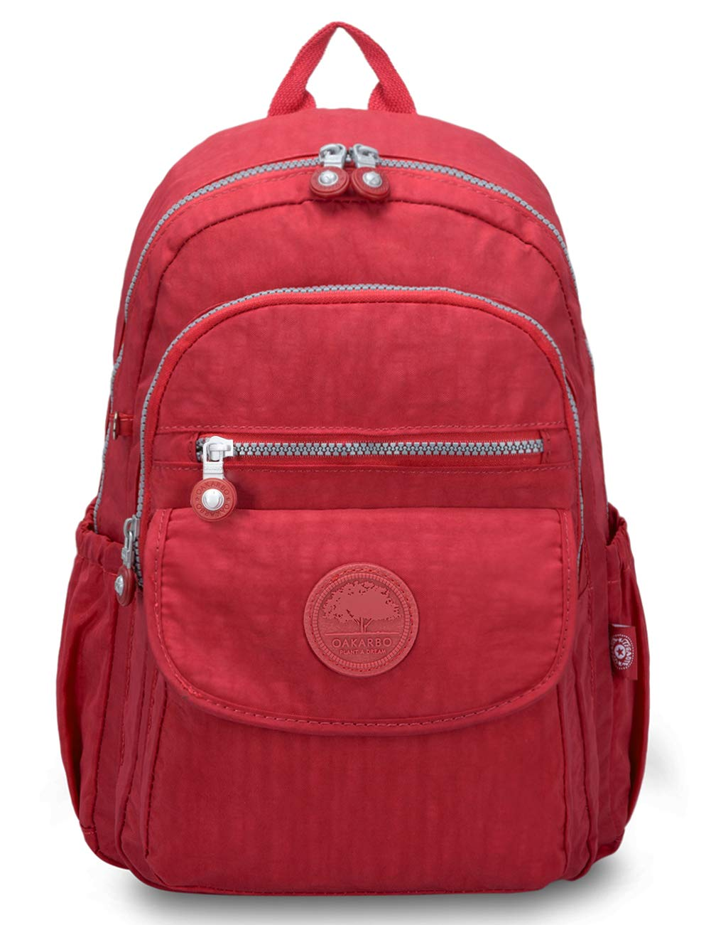 Oakarbo Backpack Mini Junior School Bag Cute Nylon Travel Daypack (1503 Red/Small)