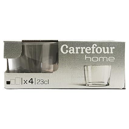 Carrefour Home 105583524 Transparente 4pieza(s) taza y tazón - Taza/vaso (