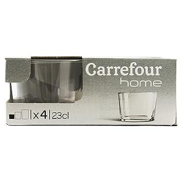 Carrefour Home 105583524 Bol et Tasse Mug/Gobelet (établir Transparent Verre)