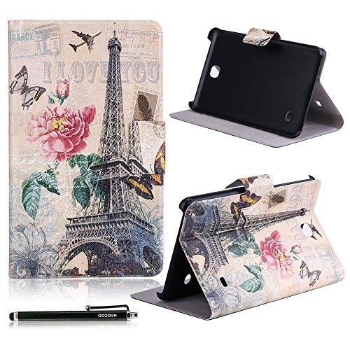 "Samsung Galaxy Tab 4 7.0 Case, HAOCOO Stylish Art Print Slim PU Leather Flip Smart Stand Case with Card Slots for Samsung Galaxy Tab 4 7.0"" T230 /T231/ T235"