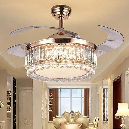 Ventilador de techo moderno de 42 pulgadas con luz para dormitorio ...
