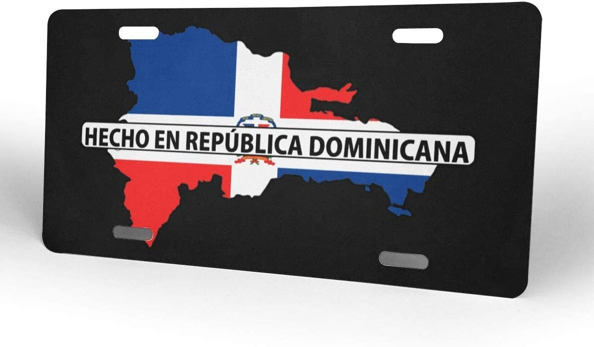 MYGED Plaque Dimmatriculation R/épublique Dominicaine Carte Drapeau Mode /Étiquette De Signe en Aluminium Avant De Voiture Plaque Dimmatriculation-6 X 12 Pouces