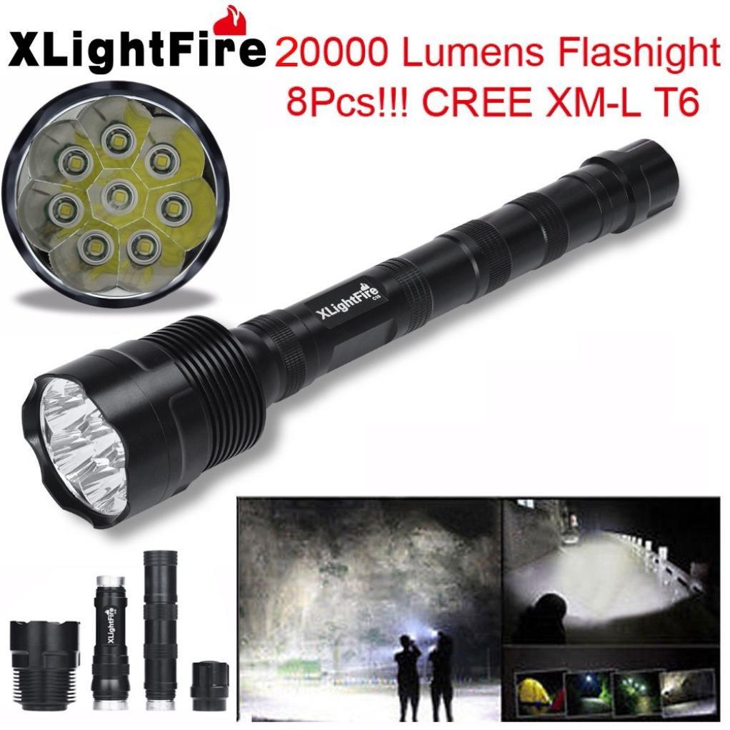 AMA(TM)® XLightFire 28000 Lumens 11x XM-L T6 LED Headlamp Flashlights 3W Headlight 600 Lumens Bright Water Resistance Headlight for Camping Hiking Home Lighting Emergency Darkness Use (20000 Lumens)