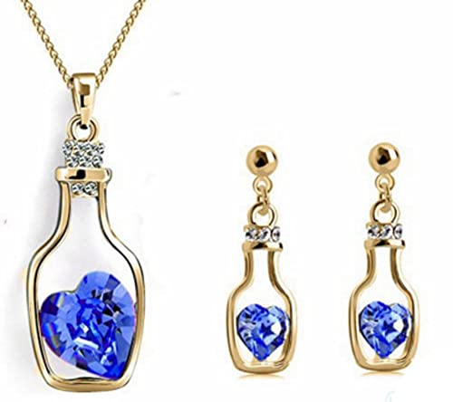 Jewelry Set Crystal 18K Gold Plated Set Jewelry AmaranTeen