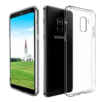 CRXOOX Funda para Samsung Galaxy A8 2018, TPU Carcasa,Resistente a Golpes,Arañazos,Silicona Protector de Pantalla para Samsung Galaxy A8 2018