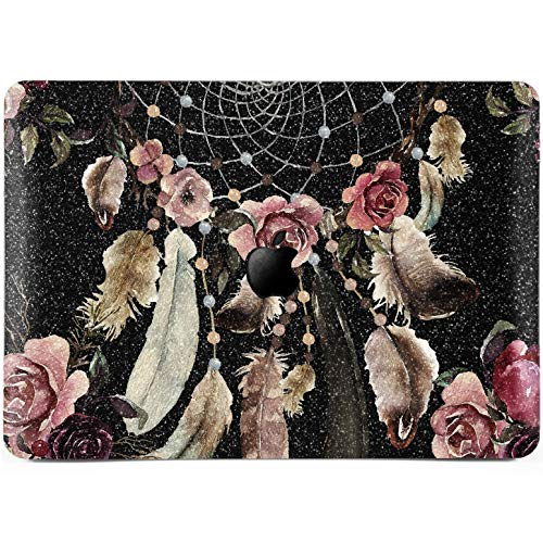 Lex Altern Glitter MacBook Case Pro 15 inch Air 13 11 12 Rose Flower Pink Shiny Mac 2018 Retina Dream Catcher Rhinestone Crystal Silver Cover Black Boho 2017 Laptop Protective Girl Print Sparkly Gift (15 Macbook Air Inch Case Tribal)