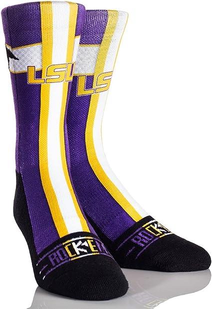 LSU Tigers Socks Womens Savage Crew Socks