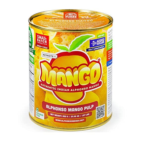 Keynote Alphonso Mango Pulp with 3% Added Sugar 850 g