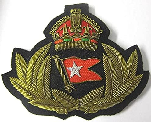 WHITE STAR LINE BADGE TITANIC OFFICER CAPT SMITH HAT BADGE