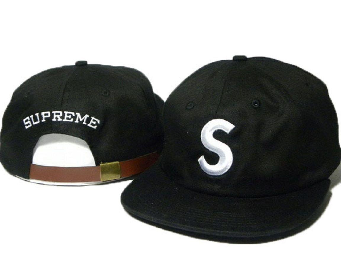 0a3bfa7b4bb2e Hip Hop Big S Logo New Supreme 5 Panel Cap (Black)  Amazon.co.uk  Sports    Outdoors