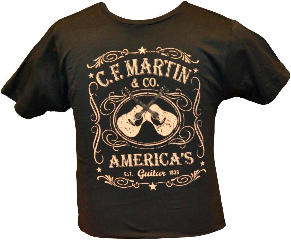 Martin Dual Guitars Vintage T-Shirt Black Large by Martin