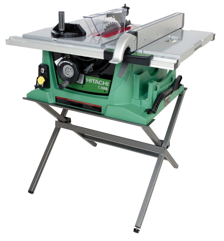 Hitachi c10rb 10 inch portable jobsite table saw with stand hitachi c10rb 10 inch portable jobsite table saw with stand discontinued by manufacturer power table saws amazon greentooth Images